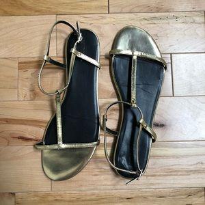 Simple, Cute Gold Sandals